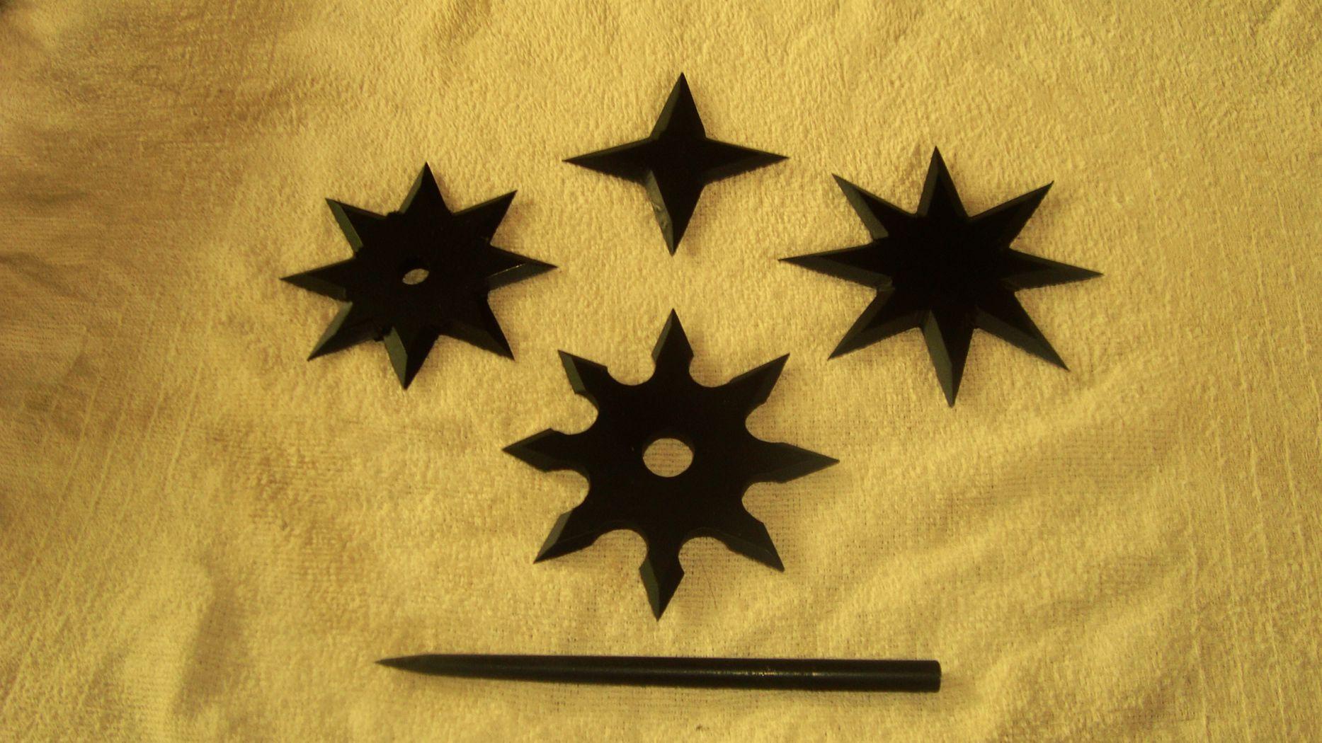 Shuriken forjadas em aço 1020 por Tiago Santoro Sensei